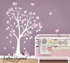 6 girl nursery wall decal nursery wall decals baby garden tree girl nursery wall decal