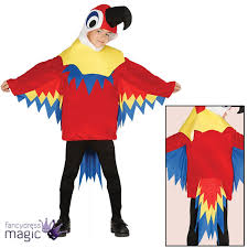 Hawaiian Halloween Costume Childs Boys Girls Parrot Bird Animal Hawaiian Pirate Fancy Dress