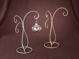 silver painted 3 arm ornament stand home kitchen