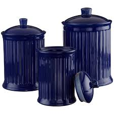 28 blue kitchen canister set set of 4 vintage blue glass