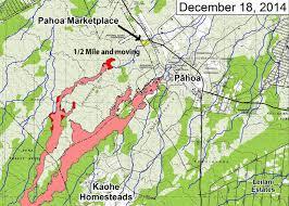 Hawaii Lava Flow Map Haysmer Hawaii Lava Comes To Pahoa For Christmas