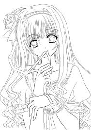 print anime coloring pages coloring home
