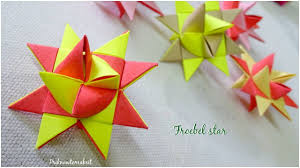 origami froebel star diy paper star christmas craft youtube