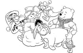 winnie pooh christmas coloring pages resume collection