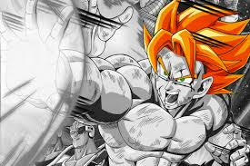 dragon ball goku super saiyan comic anime cartoon art drawing