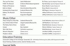Resume Acting Template Actors Resume Format Jospar