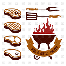 margarita time clipart barbecue time abstract background with meat fish and chicken
