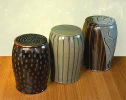 garden stool by michael jones ceramic stool artful home