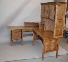 custom computer desk cherry u0026 walnut designed by shinn custom