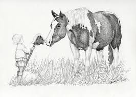 a horse of course drawing by brandy house