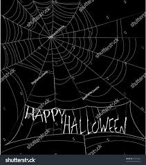happy halloween spider web background stock vector 35722432