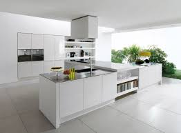Kitchen Built In Cabinets by Beauteous Futuristic Parallel Modular Kitchen With White Color