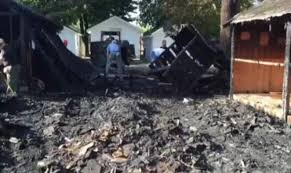volunteers clean up fire damages at ludlow falls camp