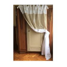 paris decor monogram curtain sheer linen curtain french