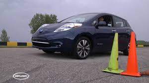nissan leaf consumer reports 2016 nissan leaf autocross youtube