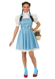 the dorothy wizard of oz costume comes with a one piece blue