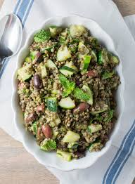 cold lentil salad with cucumbers and olives recipes from the