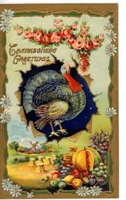 pulling the wishbone vintage thanksgiving free postcards and