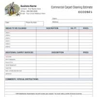 Carpet Cleaning Estimate Form by Free Carpet Cleaning Estimate Template Thesecretconsul Com