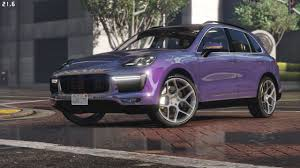 light purple porsche 2016 porsche cayenne turbo s add on replace gta5 mods com