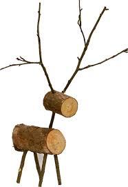 log reindeer vision twenty one handcrafted reindeer and christmas trees