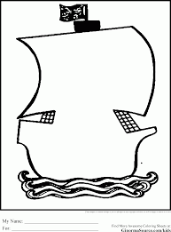 a treasure chest with pirate marks coloring page kids play color