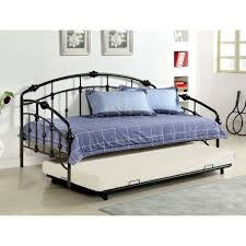 bedroom beautiful metal daybed with pop up trundle black