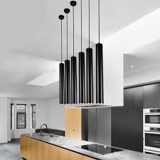 Cylinder Pendant Light Ed Black Pendant L Lights Kitchen Island Dining Living Room