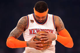 carmelo anthony may not be a rocket yet due to meyers leonard u0027s