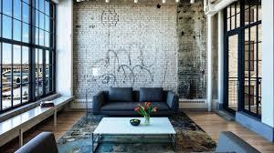 living room concrete floors exposed brick living room industrial