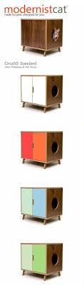 modern litter box cabinet mid century modern cat litter box furniture large cat litter box