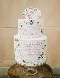 wedding cake quotes painted wedding cakes onefabday