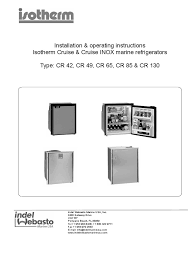 isotherm cruise manual refrigerator thermostat