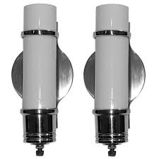 Deco Wall Sconces Pair Of Streamline Art Deco Wall Sconces For Sale At 1stdibs