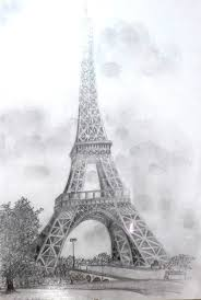 eiffel tower pencil sketch drawing sketch picture