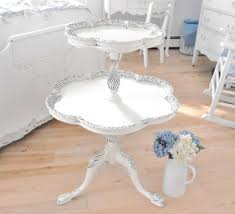 Shabby Chic Table by Antique Table Two Tier Shabby Chic Furniture By Backporchco