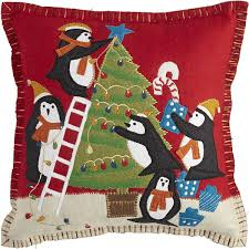 whimsy holiday penguin pillow pier 1 imports christmas