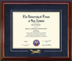 ohio state diploma frame utsa diploma frame with embossed rowdy wordyisms