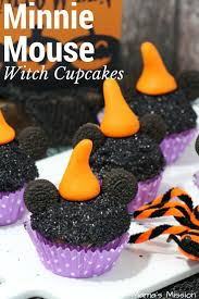 halloween minnie mouse witch cupcakes recipe