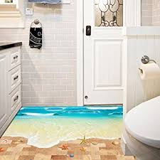 home decor 3d stickers amazon com wall sticker saingace home decor 3d beach floor wall