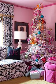 Simple Christmas Tree Decorating Ideas Glamorous Frosted Christmas Tree Image Ideas For Spaces Eclectic