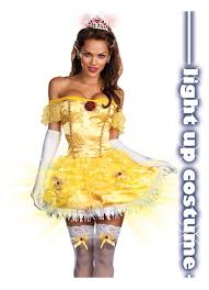 beauty disney belle princess lighted halloween costume