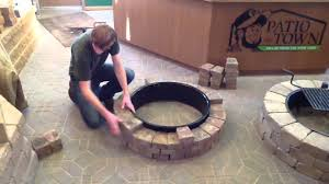 48 Fire Pit Ring by How To Build A Fire Pit Fire Ring Youtube