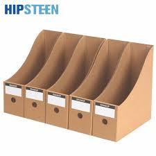 boite de rangement papier bureau hipsteen 5 pcs dur papier fichier boîte de rangement bureau étude de