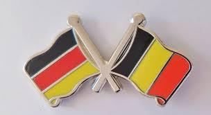 Belgia Flag Germany U0026 Belgium Flag Friendship Pin Badge G2