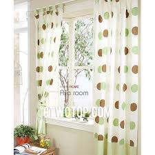 Polka Dot Curtains Best Beautiful Cotton White Aqua And Brown Polka Dot Curtains