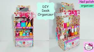 diy desk organizer cardboard diy nail polish organizer jewelry