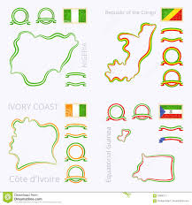 Ivory Coast Map Colors Of Nigeria Republic Of The Congo Cote D U0027ivoire And