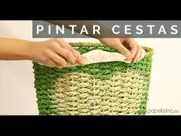 tutorial decoupage en mimbre tutorial cómo pintar cestas de la ropa con pintura spray para