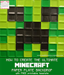 minecraft backdrop how to create ultimate minecraft backdrop free template